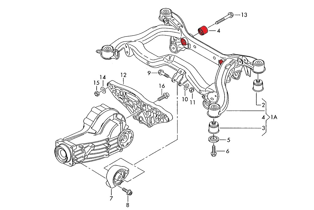 Rear Diff Rear Mounting Sleeves Pair